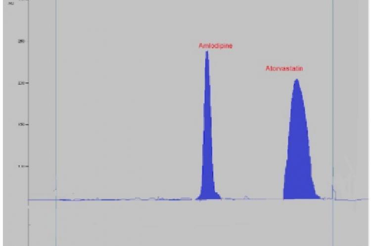 Chromatogram of Atorvastatin and Amlodipine
