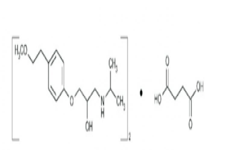 Structure of Metoprolol succinate